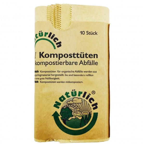 Komposttüten für Bio Abfälle 10 x 10 Liter