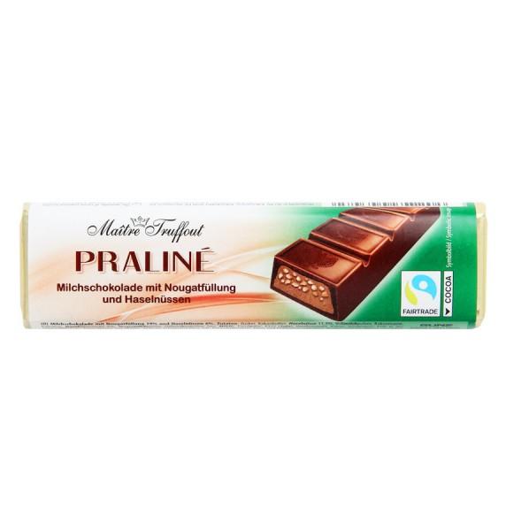 Pralinenriegel Milchschokolade mit Nougatfüllung und Haselnüssen 75g