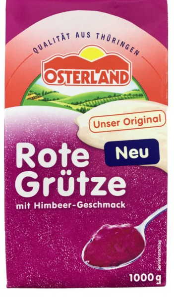 Osterland Rote Grütze mit Himbeergeschmack 1000g