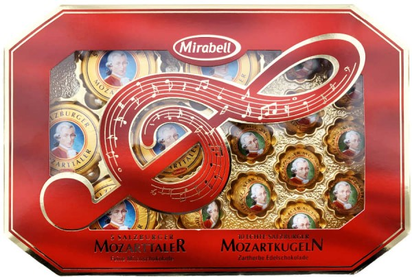 Mozart Schokoladenspezialitäten Taler und Kugeln 271g
