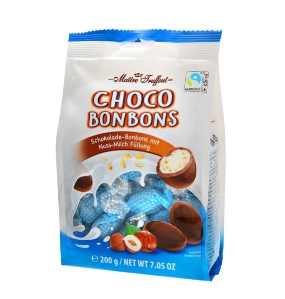Choco Bonbons mit Milch Nuss Füllung 200g