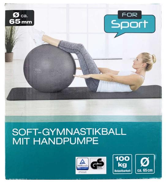 Soft Gymnastikball mit Handpumpe 1 Stück