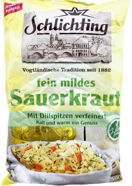 Schlichting fein mildes Sauerkraut 500g
