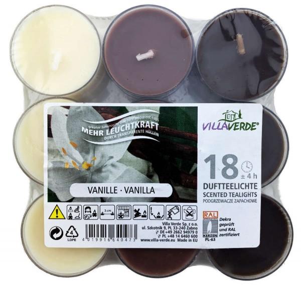 Duftteelichter Vanille 18 Stück