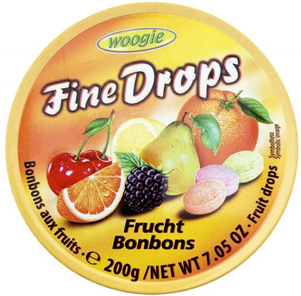 Woogie Fine Drops Frucht Bonbons 200g