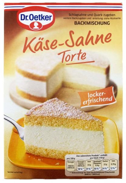 Dr. Oetker® Käse-Sahne Torte Backmischung 385g