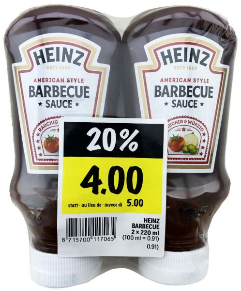 Heinz American Style Barbecue Sauce 2er 440ml