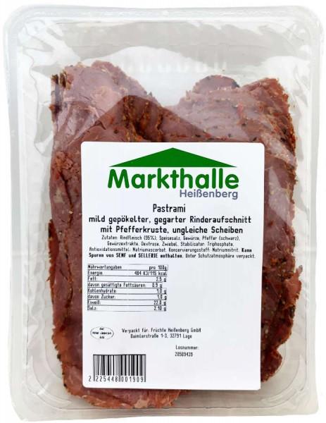 Markthallen Pastrami mild gepökelter Rinderaufschnitt mit Pfefferkruste ca 230g