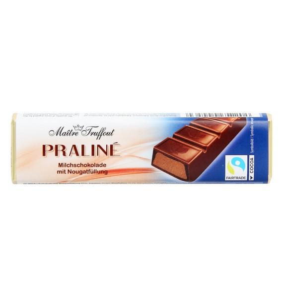 Pralinenriegel Milchschokolade mit Nougatfüllung 75g