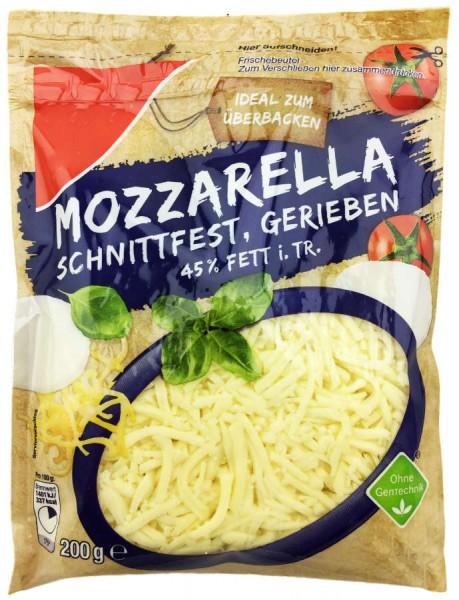 Mozzarella Käse gerieben 200g