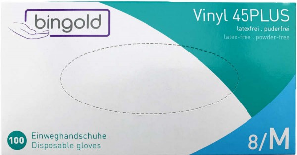 Vinyl Einweghandschuhe Latexfrei Puderfrei M 100er