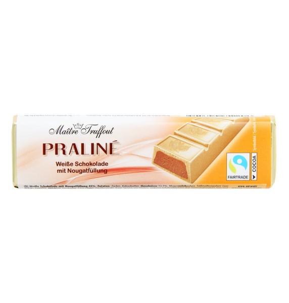 Pralinenriegel Weiße Schokolade mit Nougatfüllung 75g