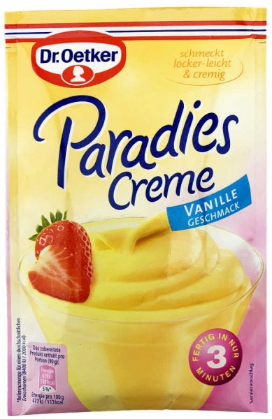 Dr. Oetker® Paradies Creme Vanille Geschmack 60g