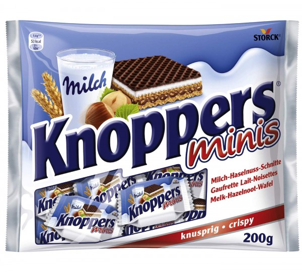 Storck Knoppers Minis Milch Haselnussschnitte 200g