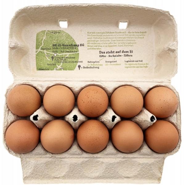 Deutsche Land Eier braun Bodenhaltung Gewichtskl. L 10er